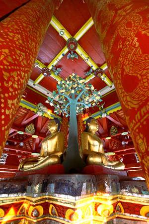 Thai Temple Wat Pong Sanook Tai, temple in Lampang, Thailand Stock Photo