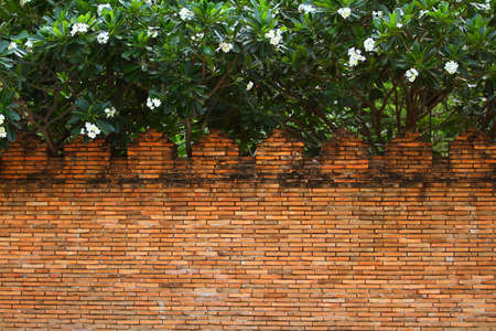 Brick wall temple at Wat Phra That Lampang Luang, Lampang Thailand