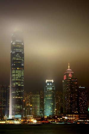 HONG KONG- NOVEMBER 25:  Symphony of Lights at Victoria Harbour on November 25, 2006 in Hong Kong Editorial
