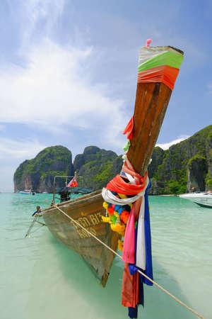KRABI THAILAND- MARCH 29  Boat transport service at Poda Island on March 29, 2009 in Krabi, Thailand Stock Photo