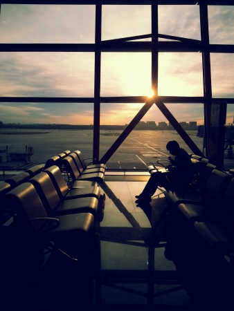 Waiting at Beijing Airport
