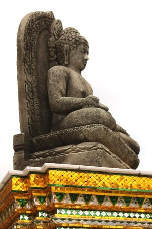 stone buddha: stone buddha Stock Photo