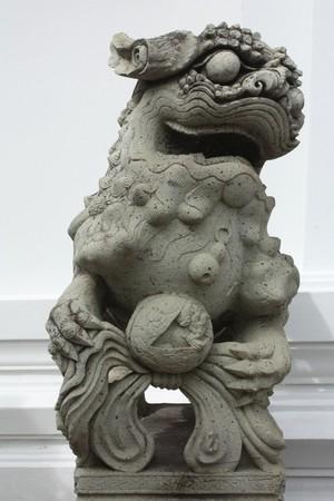 ism: Stone lion Stock Photo