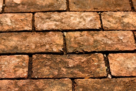 The brick block to show the texture of floor. Stock Photo - 7238331