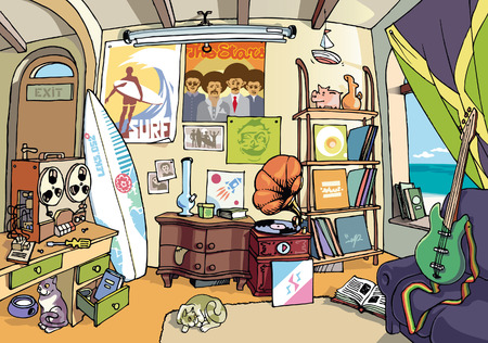messy room: The surfers room