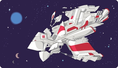 The abstract construction. A hint at fantastic space ships. Vector