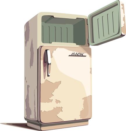 refrigerador: El logotipo sobre una puerta es sólo mi fantasía y estilización.  Vectores