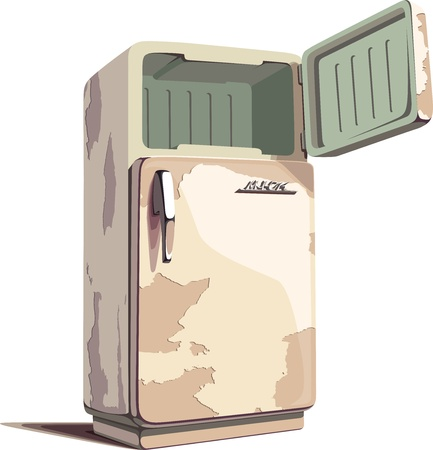 refrigerator: The LOGO on a front door is only my fantasy and stylization.