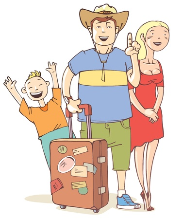 tourist: Tourist Illustration