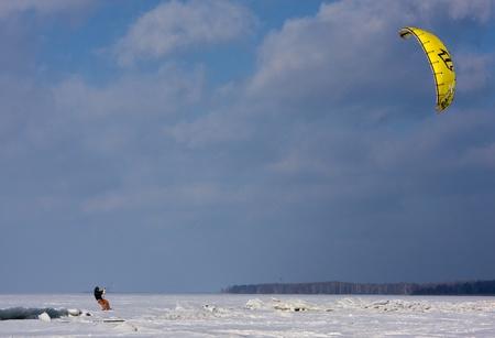 snowkiting: Snowkiter
