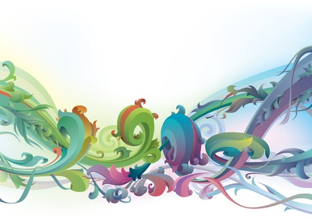 ar: The vector background with floral  motifs