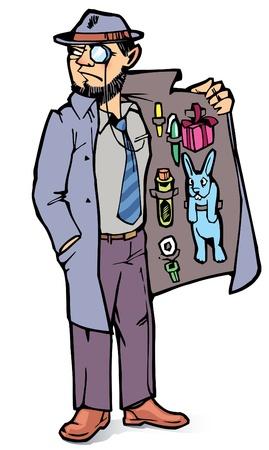 De man is de verkoop van de verboden spullen