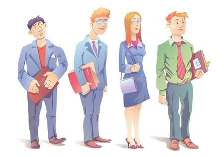 salesmen:  The business people - three men and the woman.