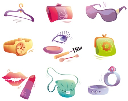 accessories set Vector