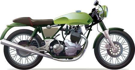 The classic retro motorcycle  Vector