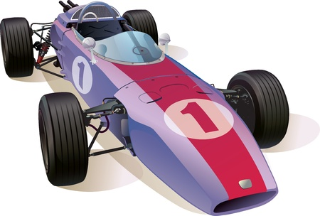 formula one racing: The rare Formula One racing car  Illustration