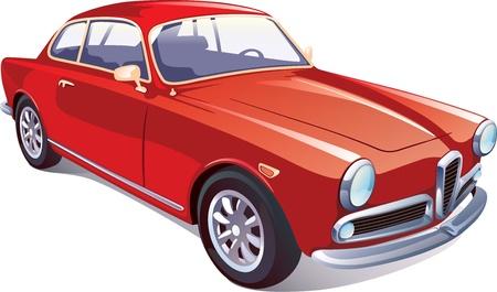 scheinwerfer: Der Vektor Bild des gro�en retro selten Fahrzeug
