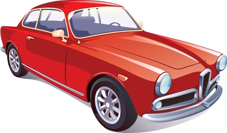 The vector image of the great rare retro vehicle