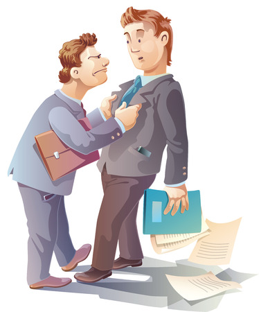 Two businessman are arguing  And maybe they are close to fight