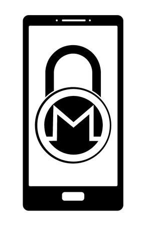 electronic security lock of monero in a phone