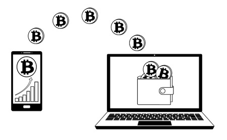 transfer bitcoin from phone to wallet on the laptop, transfer crypto currensy in the wallet,buying bitcoin in the phone