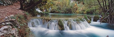 plitvice: Panoramic view in Plitvice park Croatia