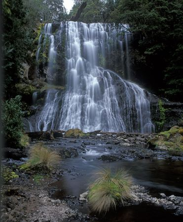Beautiful waterfall in wild forest of Tasmania Stock Photo - 2511685