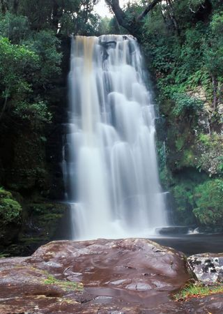 McLean Falls, Catlins Coastal Heritage Trail, Southern Scenic Route, Catlins, Southland, South Island, New Zealand. photo