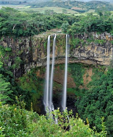 Famous Chamarel falls in Mauritus Stock Photo - 3783849