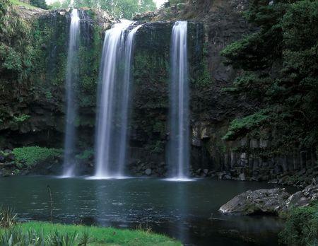 ファンガレイ滝ファンガレイ ノースランド地方北の島ニュージーランド 写真素材