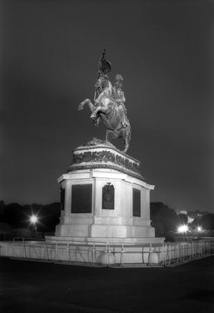 bw: Archduke Karl Monument on the Heldenplatz (Heroes Square), Vienna, Austria, Europe
