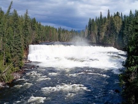 Dawson Falls, Murtle River, Wells Gray Provincial Park, British Columbia, Canada photo