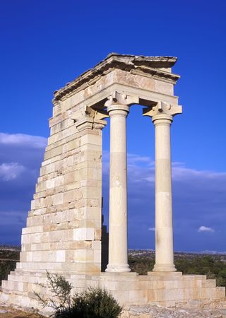 archeological site: The Temple of Apollo at Kourion the Greco Roman archeological site near Limassol Cyprus