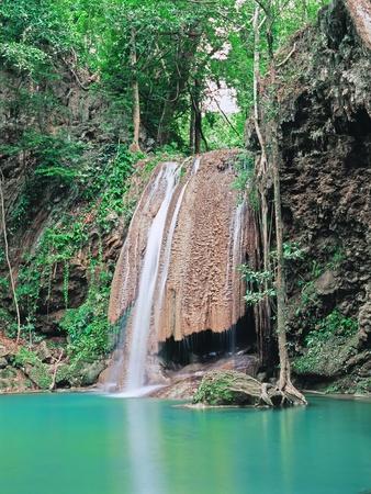 Famous Erawan falls, Province Kanchanaburi, Thailand Stock Photo - 11744330