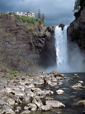 washington state: Snoqualmie Falls attraction east of Seattle Washington State USA