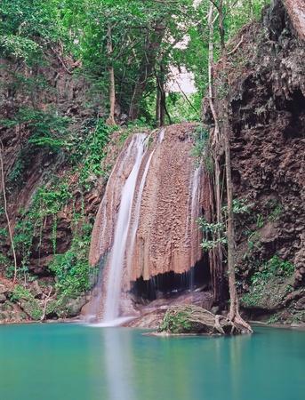 Famous Erawan falls, Province Kanchanaburi, Thailand Stock Photo - 11744559