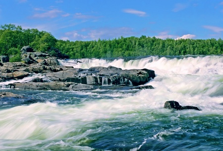 untamed: Panoramic view to Storfosen Falls is one of Europe's largest untamed waterfalls