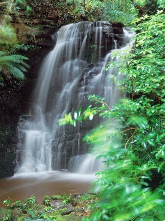 Horseshoe falls of the Catlins,South Island,New Zealand 版權商用圖片