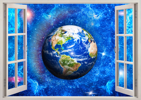 a window on the world: Open window view to Earth in space