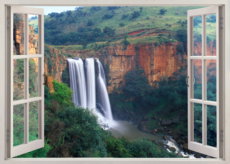 declared: Elands River Falls in Mpumalanga state of South Africa.These falls have been declared a national monument. At this waterfall the water of the Elands River gushes over a 228-meter cliff in three separate streams, splashing into a clear, deep pool