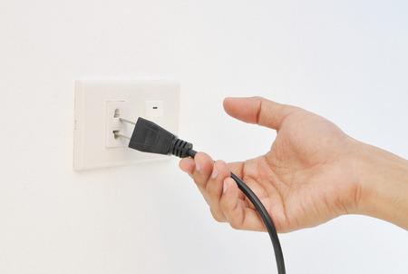 electric shock: Hand unplug , electric shock