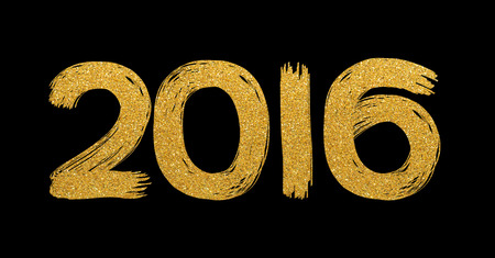 time of the year: Gold glitter text 2106