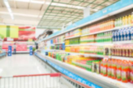 miscellaneous: Supermarket blur background , Miscellaneous Product shelf Stock Photo