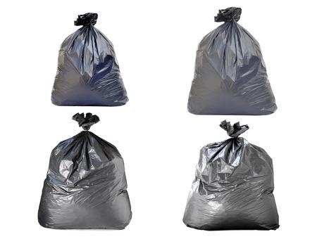 garbage bag: garbage bag on white backgrounds