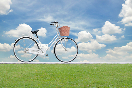 spaciousness: Bicycle on road and blue sky , concept design
