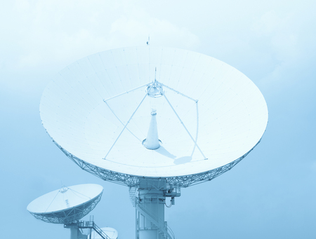 antenna: Satellite dish Stock Photo