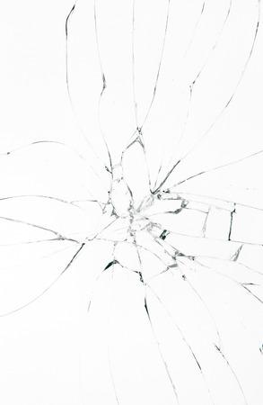 Vidrio roto sobre fondo blanco  Foto de archivo - 60194190