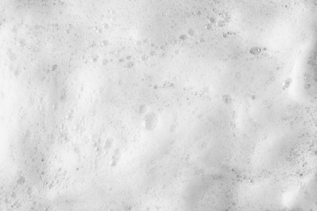 Espuma de burbujas de jabón o champú lavado en la vista superior Foto de archivo - 77213004