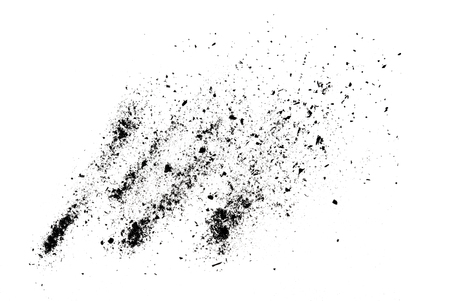 Pile of Carbon charcoal  dust on white background Stock Photo