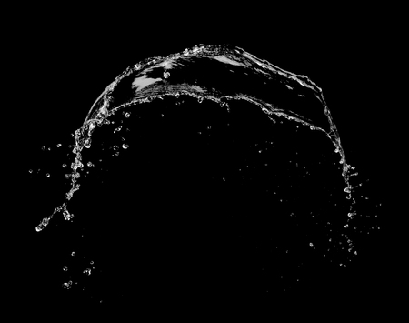 Water Splash Explosion On Black Background Stop Motion Stock Photo